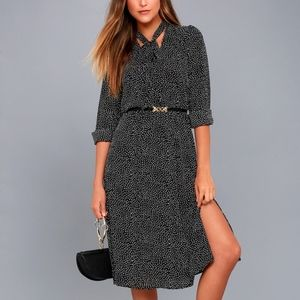 Lulu Save a Spot Polka Dot Midi Dress- Size Small